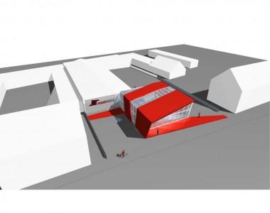Ausstellungs- und Präsentationsgebäude für Pflege- und Hilfsmittel im Sanitätsbereich